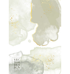 minimal watercolor grunge design olive edding vector image