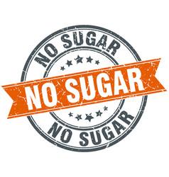 No sugar round grunge ribbon stamp vector