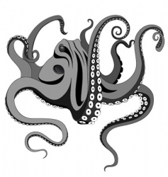 Octopus tattoo vector