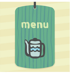 outline teapot icon modern infographic logo and vector image