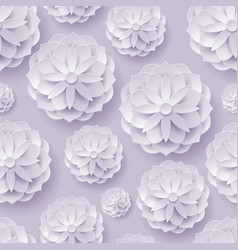 paper volume flowers lilac background seamless vector image