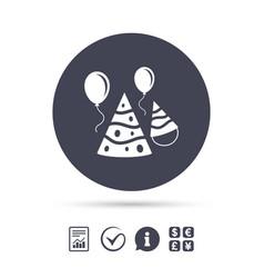 party hat sign icon birthday celebration symbol vector image