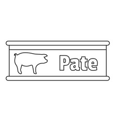 pate tin can icon outline style vector image