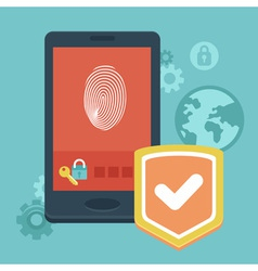 phone security vector image