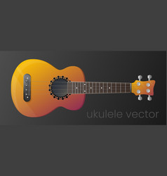 realistic gradient ukulele guitar isolated vector image