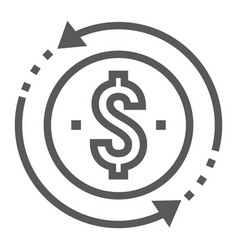 Return on investment line icon development vector