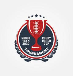 rugworld cup logo sport design vector image