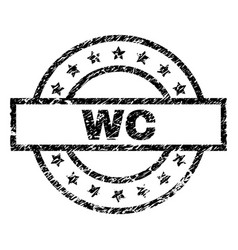 Scratched textured wc stamp seal vector