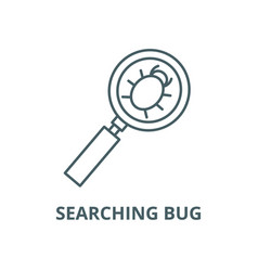searching bug line icon linear concept vector image