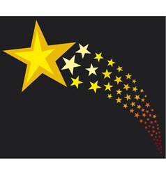 Shooting stars vector