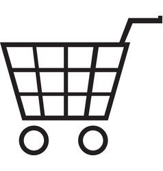 shopping basket icon shopping basket vector image