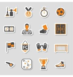 Soccer Icon Sticker Set vector
