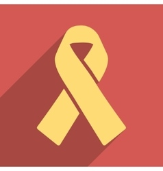 Solidarity Ribbon Flat Longshadow Square Icon vector