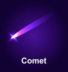 space comet icon isometric style vector image