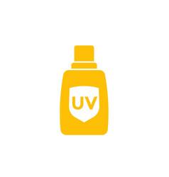 Sunscreen sunblock icon vector