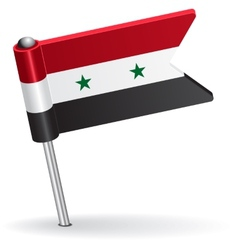 Syria pin icon flag vector image