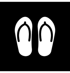 The flip flops icon Vacation symbol Flat vector image vector image