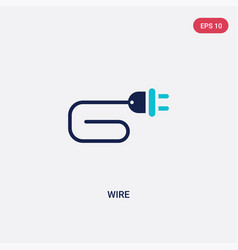 Two color wire icon from electrian connections vector