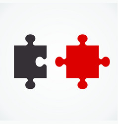 two puzzle concept vector image