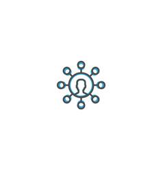 user icon design marketing icon line vector image