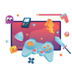 video games symbol vector image