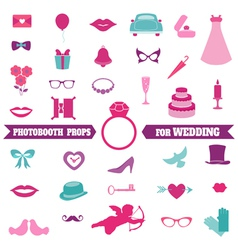 Wedding Party Set - Photobooth Props vector image