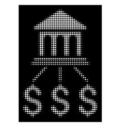White halftone bank scheme icon vector