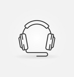 Wired headphones outline icon or design vector