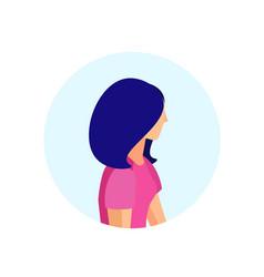 woman profile isolated avatar female cartoon vector image