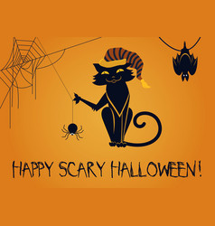 happy scary halloween vector image vector image