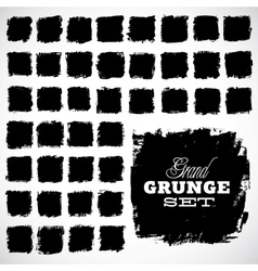 Abstract grunge ink draw shapes vector image vector image