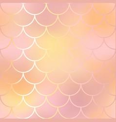 blush pink and orange fish skin background vector image vector image