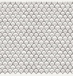 doodle pattern like fish scale vector image