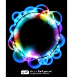 neon light gradient effect vector image vector image