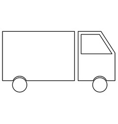 truck the black color icon vector image vector image