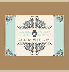 wedding invitation or announcement card vector image