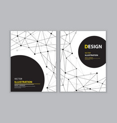 black network book cover vector image