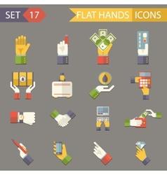 Retro business hands symbols finance accessories vector