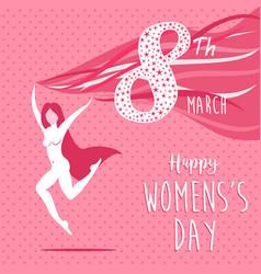 Happy international womens day celebration girl vector