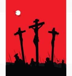 Jesus Christ crucifixion vector image