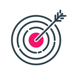 Motivation concept target chart icon business vector