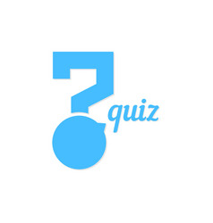 question mark like quiz button vector image vector image
