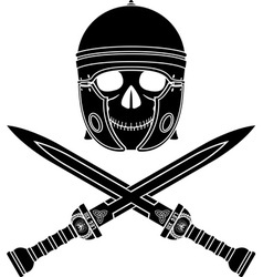 skull of the warrior third variant vector image vector image