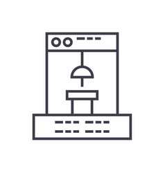 3d printer icon sign vector image