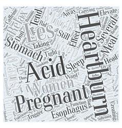 Acid reflux and pregnancy Word Cloud Concept vector