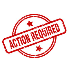 Action required vector