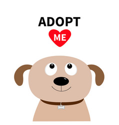 Adopt me dont buy dog face pet adoption puppy vector