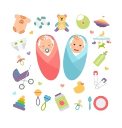 Babies and baproducts vector