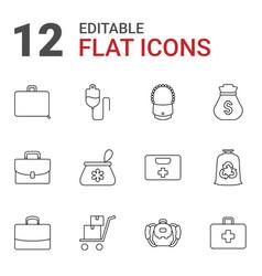 bag icons vector image