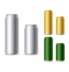 Beer can set vector